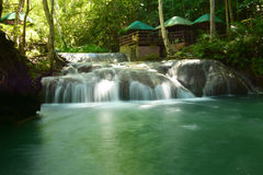 Small waterfalls. With tropical forest in the background Royalty Free Stock Photo