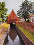 Small Watermill in Gdansk, Poland Stock Photo