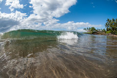 Small wave in Maui, Hawaii Stock Images