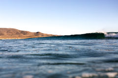 Small Wave. A small wave peels into the Baja desert Royalty Free Stock Images