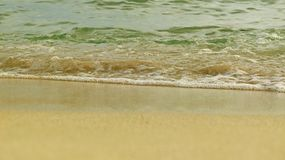 Small wave. In the sea and small sponge Royalty Free Stock Image