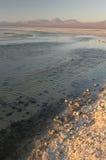 Small waves over the lake. Of the Salar de Atacama Royalty Free Stock Photos