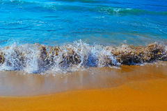 Small waves in Porto Ferro Royalty Free Stock Images