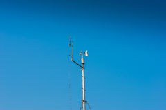 Small weather station keeping track of local conditions Stock Images