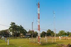 Small weather station keeping track of local conditions. In Thailand royalty free stock photography