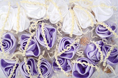 Small wedding accessories background Royalty Free Stock Photography