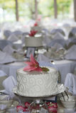 Small wedding cakes all in a row Royalty Free Stock Photos