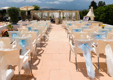 Small wedding reception in Spain Stock Images