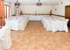 Small wedding reception in Spain Royalty Free Stock Image