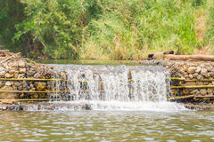 Small weir irrigate Royalty Free Stock Images
