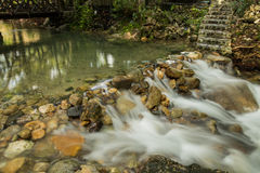 Small weir in park Royalty Free Stock Photos