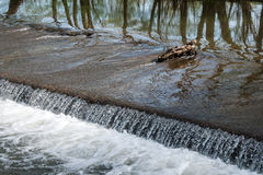 Small weir on the river Morava Royalty Free Stock Photography