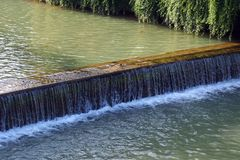 Small Weir in River Royalty Free Stock Photography