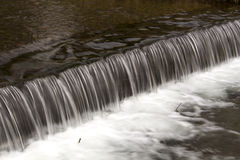 Small weir on riverine Stock Photo