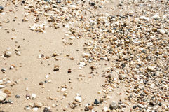 Small wetted pebbles Royalty Free Stock Photos