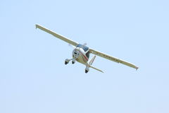 Small white airplane Stock Photography