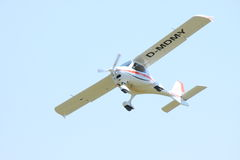 Small white airplane Royalty Free Stock Photo