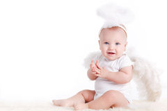 Small white angel. Royalty Free Stock Image