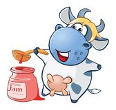 Illustration of a Cute Cow. Cartoon Character Vector Illustration