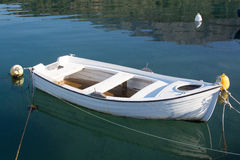 Small White Boat Stock Photos