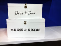 Small White Boxes for Odds and Ends Royalty Free Stock Image
