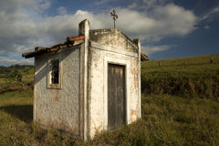 Small white chapel in the countryside of sao paulo Stock Images