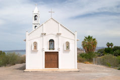 Small white church Royalty Free Stock Photography