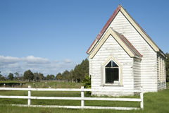 Small white church Stock Photo