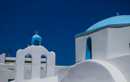 Small white church in Cyclades. Small white church details in Cyclades Royalty Free Stock Image