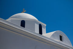 Small white church in Cyclades. Small white church details in Cyclades Royalty Free Stock Photos