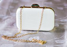 Small white clutch Royalty Free Stock Photo