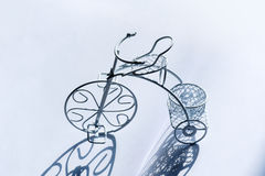 Small white decorative vintage bicycle Royalty Free Stock Photography