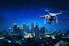 Small white drone Royalty Free Stock Photos