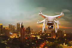 Small white drone Royalty Free Stock Images