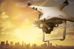 Small white drone Royalty Free Stock Photo