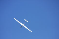 Small white glider Royalty Free Stock Images