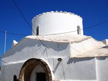 Small White Greek Church, Skyros, Stock Image