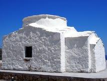 Small White Greek Church, Skyros, Stock Image
