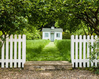 Small White House - Playhouse - North Yorkshire Stock Photography