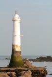 Small white lighthouse Stock Photos