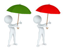 Small white man with an umbrella Royalty Free Stock Images