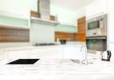 Small modern bright kitchen Royalty Free Stock Photography