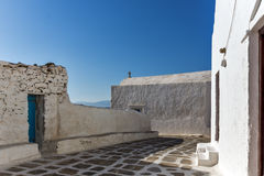 Small White orthodox church in Mykonos, Cyclades, Greece Stock Photos