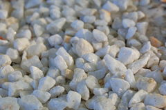Small white pebbles close-up, background Stock Photography