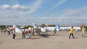 Small white plane Stock Photos