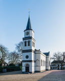 Small white plastered church in the Netherlands Royalty Free Stock Photography