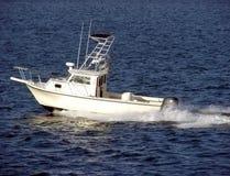 Free Small White Pleasure Fishing Boat Sailing At Sea Stock Image - 1670071