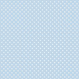 Small White Polka Dots On Pastel Blue, Seamless Background Royalty Free Stock Images