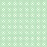 Small White Polka Dots On Pastel Green, Seamless Background Stock Images