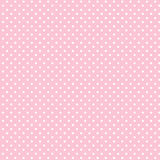 Small White Polka Dots On Pastel Pink, Seamless Background Royalty Free Stock Photo